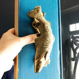 Vintage Brass Fish Door Knocker