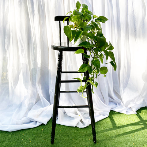Tall Black Vintage High Chair