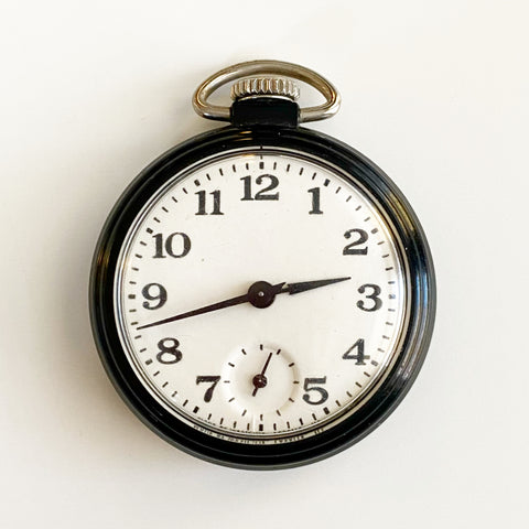 Westclox Black Pocket Watch