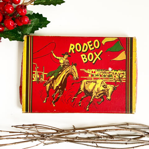 Vintage Rodeo Pencil Box