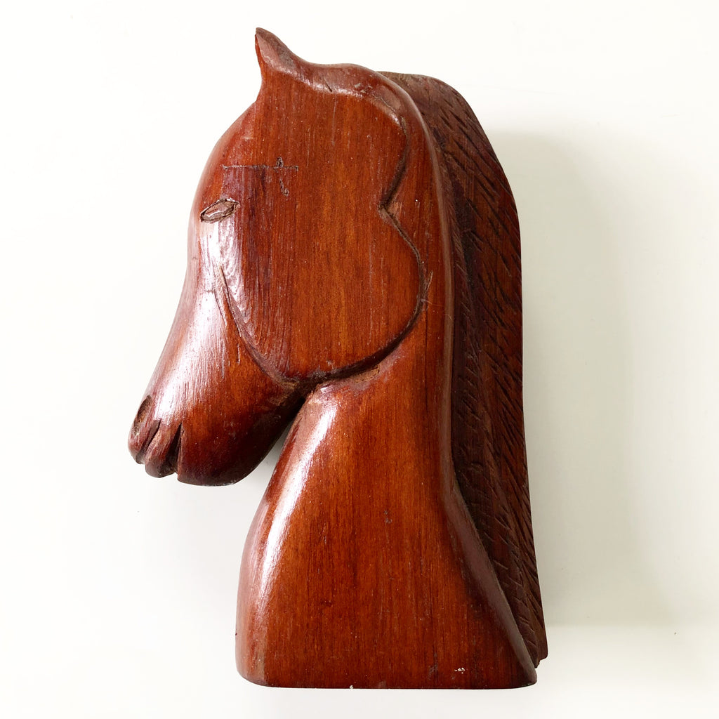 Hand Carved Wooden Horse Head What These Old Things Ns