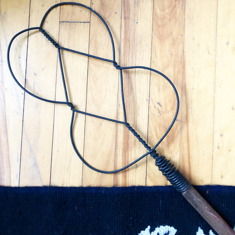 Antique Metal Wire Rug Beater