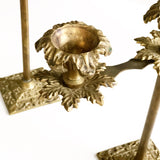 Set of Bohemian Brass Candelabras