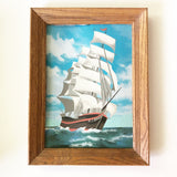 Vintage Paint by number Tall Ship (right facing)