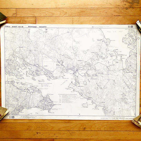 Richmond County Cape Breton Grant Boundary Map 1951