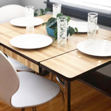 Vintage Wood Grain Chrome Dining Table