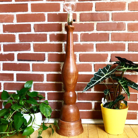 Large Wooden Vintage Lamp