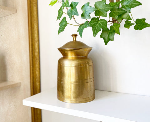 Brass Lidded Jar