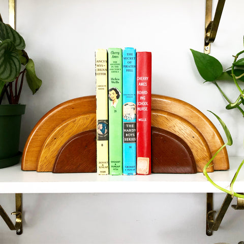 Deco Style Wooden Bookends