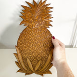 Carved Pineapple Wall Hanging