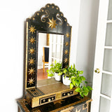 Black & Brass Star Chest & Mirror Set