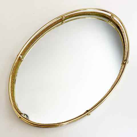 Vintage Brass Mirror Tray