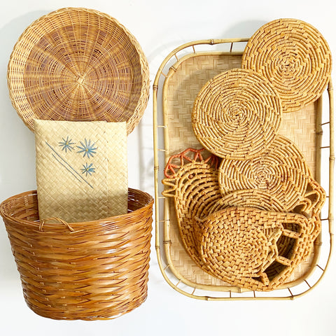 Vintage Wicker Lot