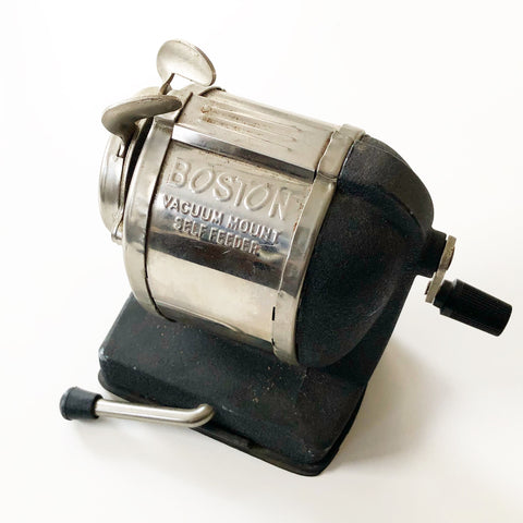 Boston Vacuum Mount Self Feeder Pencil Sharpener