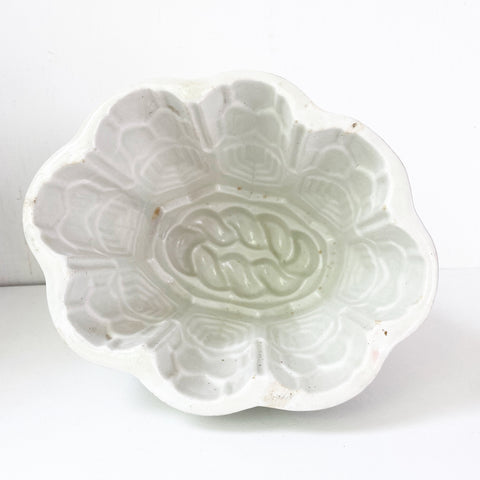 White Ironstone Ceramic Jelly Mould 1