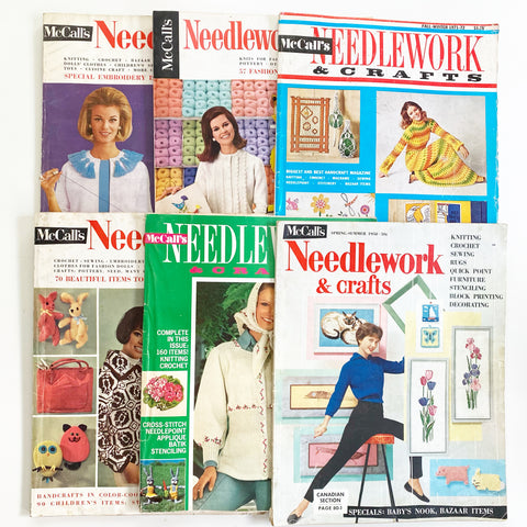 Vintage McCall Needlework and Craft Magazine Lot