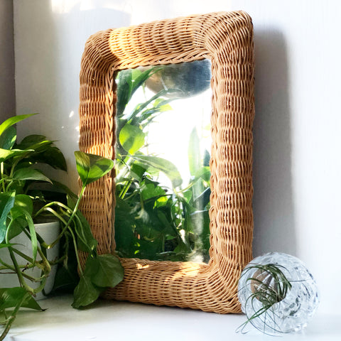 Wicker Mirror