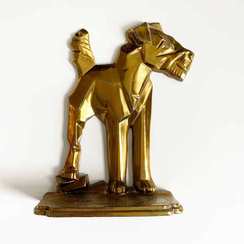 Brass Dog Door Stopper