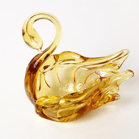 Chalet Glass Amber Swan