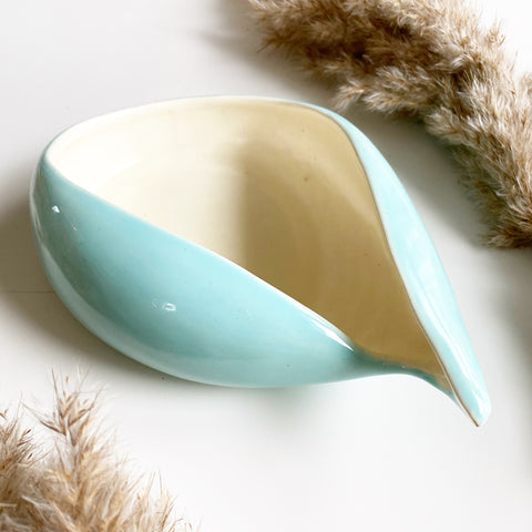 Robin's Egg Blue Ceramic Dish 1940s