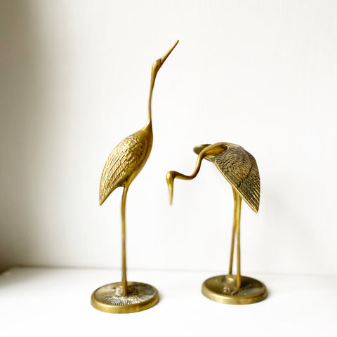 Pair of Large Brass Cranes from WTOT