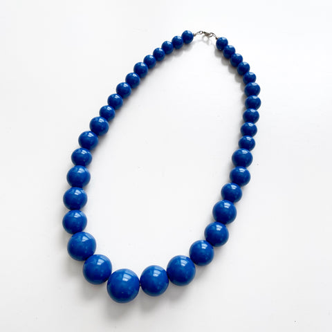Blue Chunky Beaded Necklace