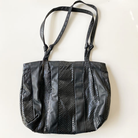 Black Leather Tote Purse