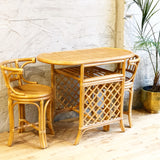 Rattan Dining Set for 2