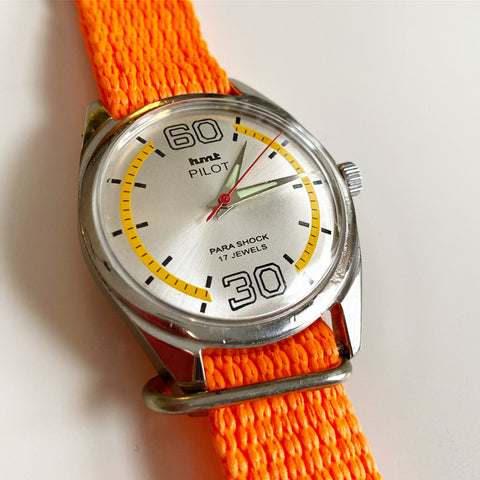 Vintage Orange hmt Pilot Watch