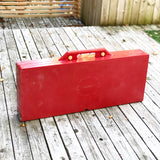 Retro Folding Red Picnic Table