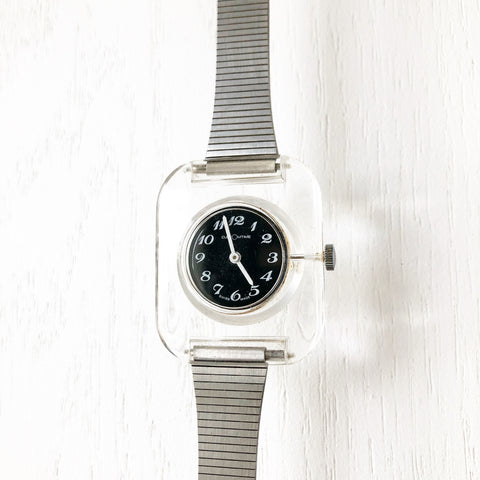 Vintage 1960s Customtime Lucite Watch
