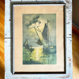 An Evening Breeze Early 1900s Signed Original Colour Print