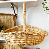 Shallow Wicker Handled Basket