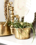 Set of Brass Water Pump Planters