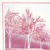 Pink Forest 1980s Print