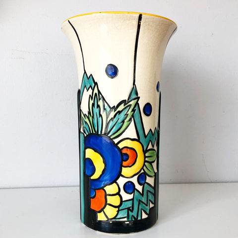 Thomas Forester and Son Art Deco Phoenix Syrian Patterned Vase 1930s
