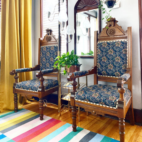 Set of Late 1800s Eastlake Thrones