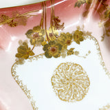 Sunset Pink and Gold Limoges Dish