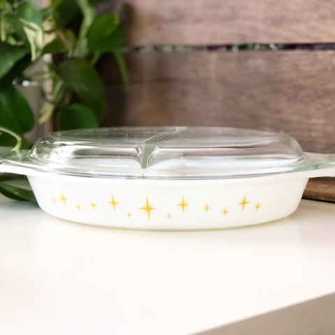 Constellation Pyrex Divided Casserole