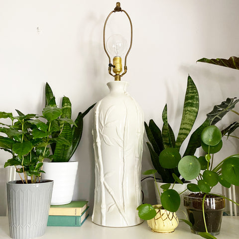 Tall Ceramic Bamboo Lamp