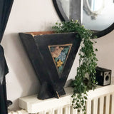Vintage Painted Wooden Planter