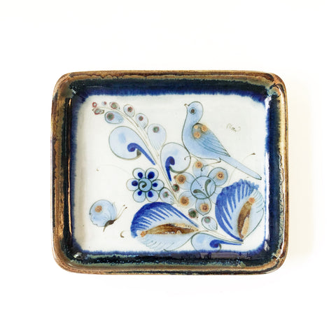 Small Bluebird Pottery Plate Ken Edwards El Palomar