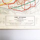 Vintage Camp Petawawa Ontario Composite Sheet Grid Map 1962