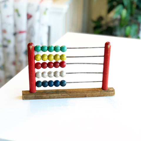 Vintage Wooden Abacus Red