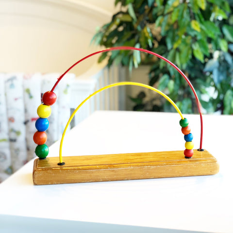 Vintage Double Rainbow Educo Abacus Toy