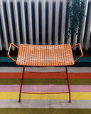 Vintage Orange Metal Bench