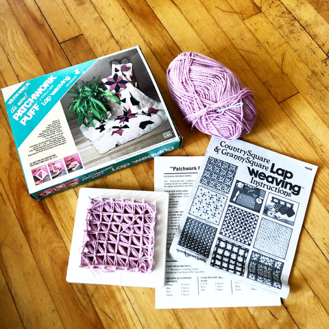 Vintage Patchwork Puff Lap Weaving Craft Kit