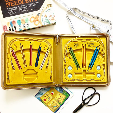 Vintage Needle Master Knitting Needle Kit