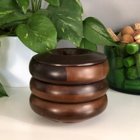 Mid Century Modern Hellerware Stacking Nut Bowl Set