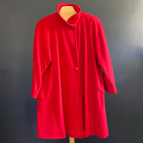 Holt Renfrew Red Swing Coat